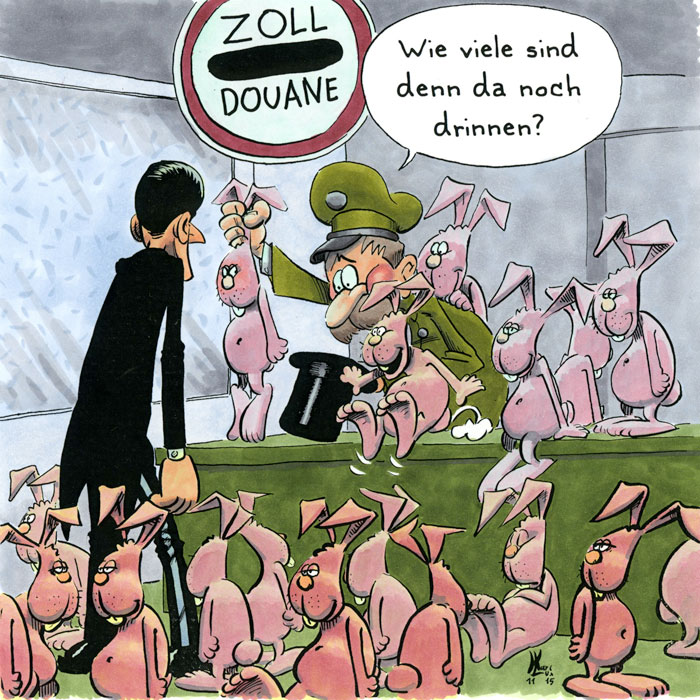 Cartoon 28, Wolf, Geißlein, Vegatarier